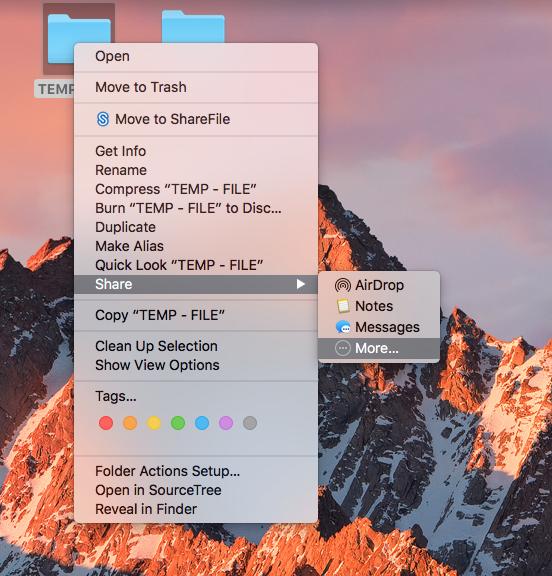 Share file OneDrive